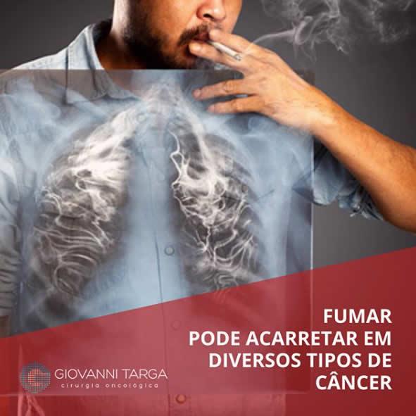 fumar pode causar cancer